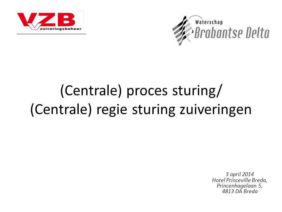 (Centrale) proces sturing/ (Centrale) regie sturing zuiveringen 3 april 2014 Hotel Princeville Breda, Princenhagelaan 5, 4813 DA Breda