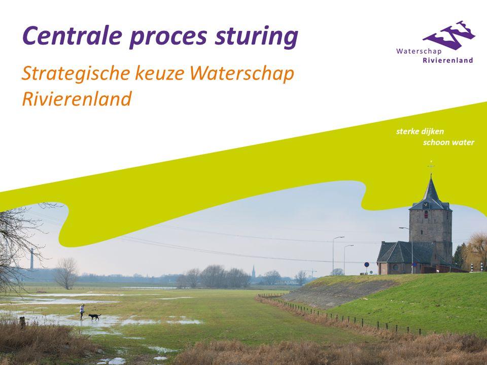 Centrale proces sturing Strategische keuze Waterschap Rivierenland