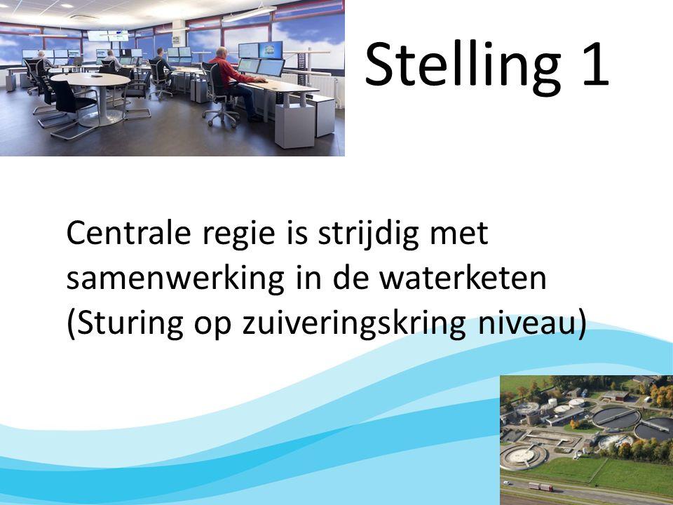 Stelling 1 Centrale regie is strijdig met samenwerking in de waterketen (Sturing op zuiveringskring niveau)