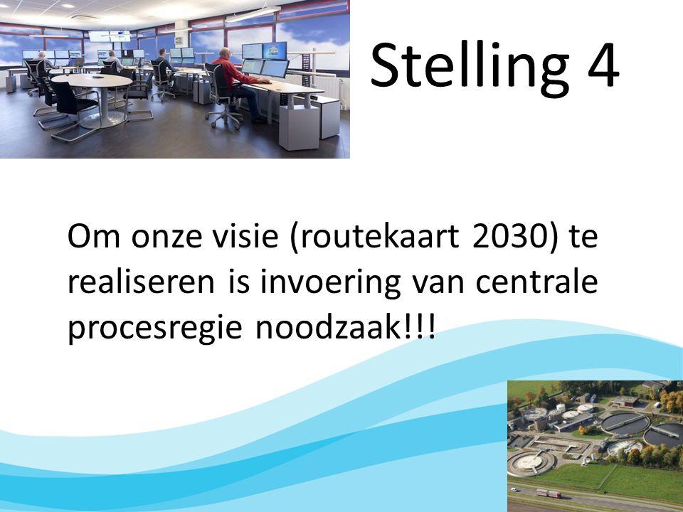 Stelling 4 Om onze visie (routekaart 2030) te realiseren is invoering van centrale procesregie noodzaak!!!