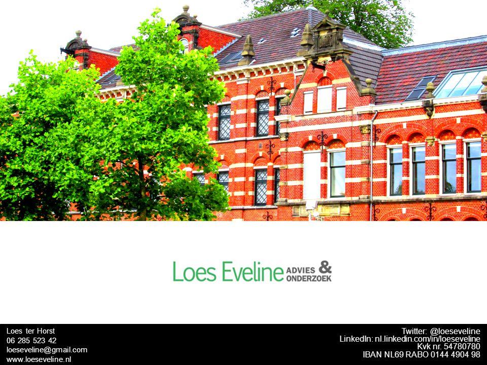 TITEL Twitter: @loeseveline LinkedIn: nl.linkedin.com/in/loeseveline Kvk nr. 54780780 IBAN NL69 RABO 0144 4904 98 Loes ter Horst 06 285 523 42 loeseve