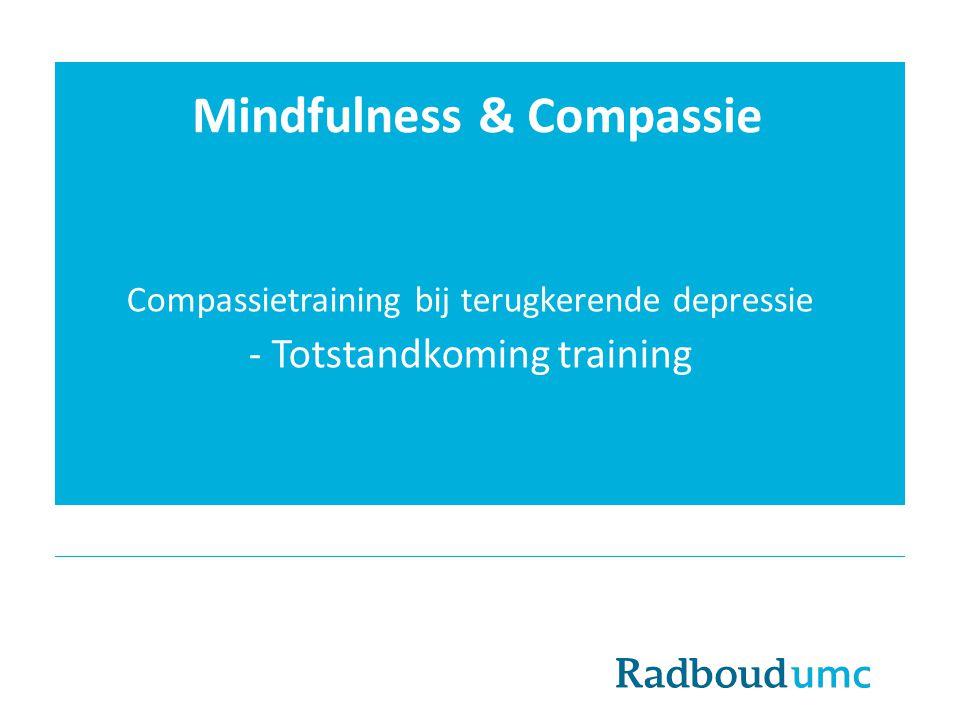 Mindfulness & Compassie Compassietraining bij terugkerende depressie - Totstandkoming training