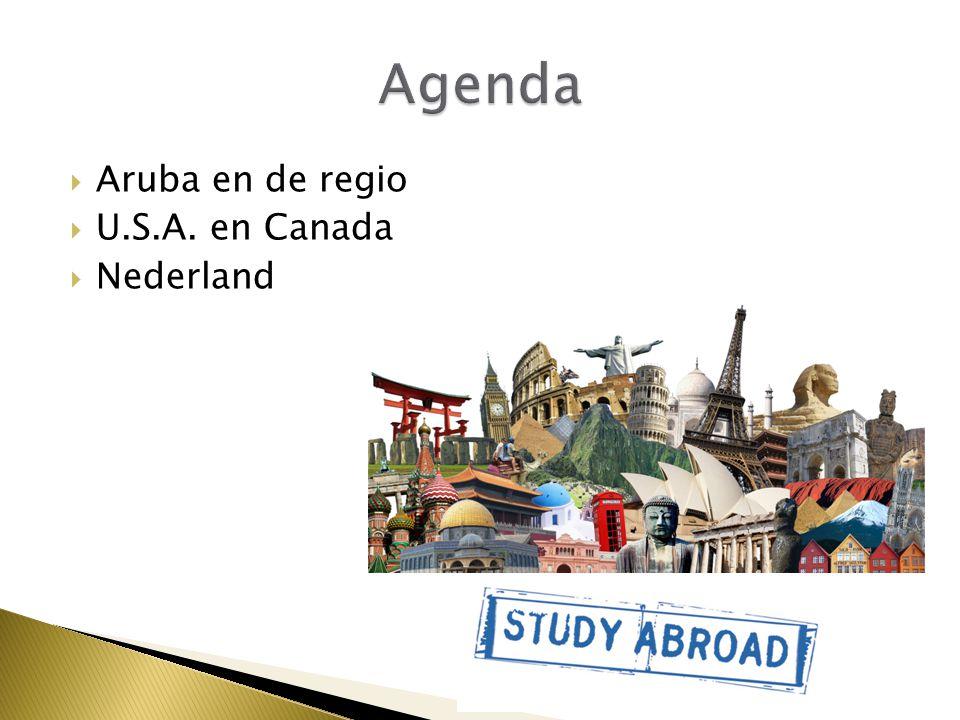  Aruba en de regio  U.S.A. en Canada  Nederland