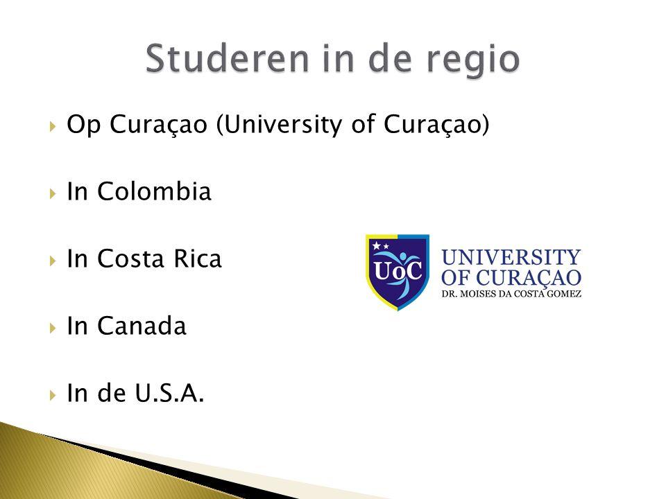  Op Curaçao (University of Curaçao)  In Colombia  In Costa Rica  In Canada  In de U.S.A.