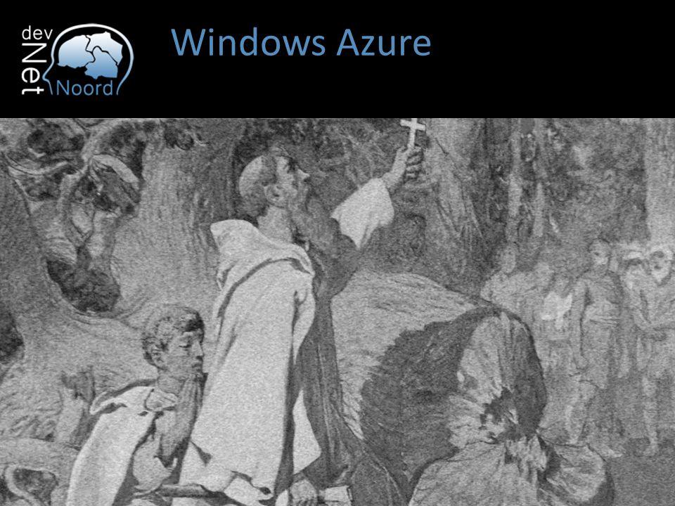 ...in een notendop US Europe Asia Australia Windows Azure biedt grootschalige capaciteit via het internet Azure draait in verschillende datacenter verspreid over de wereld Australia