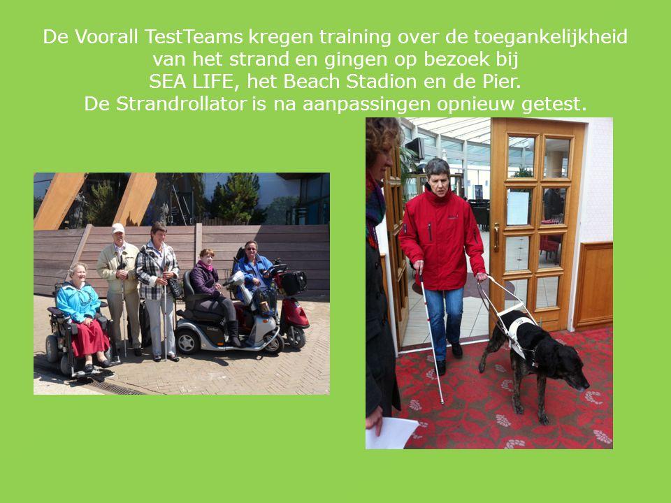 De Voorall TestTeams kregen training over de toegankelijkheid van het strand en gingen op bezoek bij SEA LIFE, het Beach Stadion en de Pier.