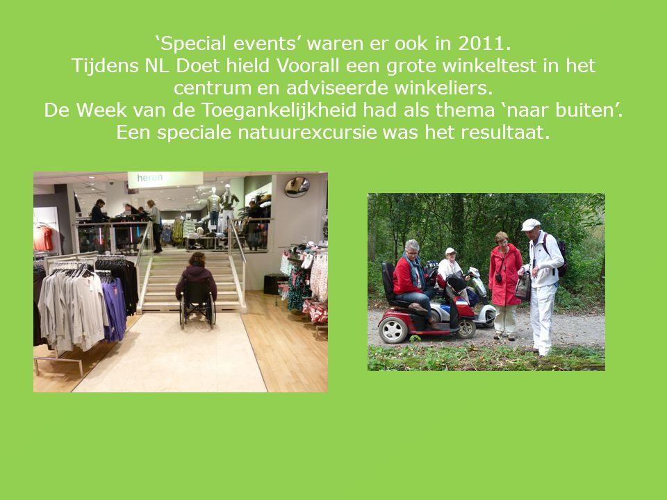 'Special events' waren er ook in 2011.