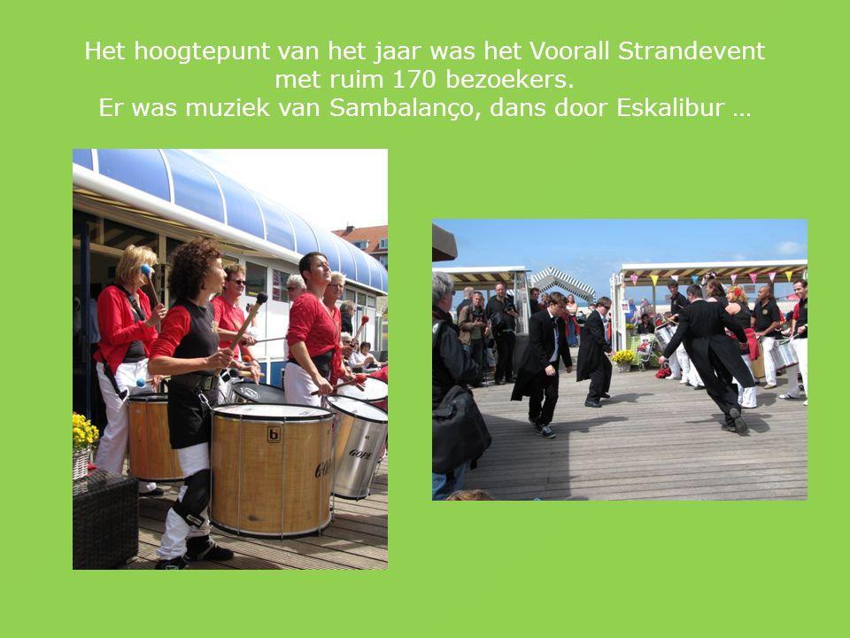 Het hoogtepunt van het jaar was het Voorall Strandevent met ruim 170 bezoekers.
