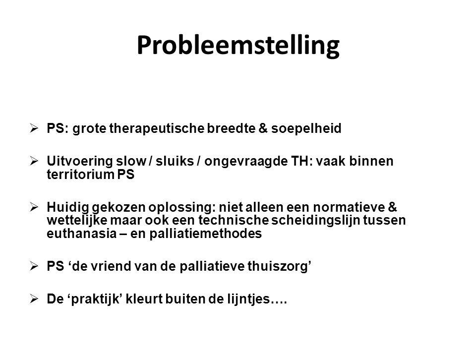 Probleemstelling  PS: grote therapeutische breedte & soepelheid  Uitvoering slow / sluiks / ongevraagde TH: vaak binnen territorium PS  Huidig geko