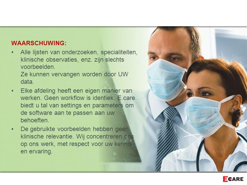 E.care OR De Wachtlijst/Zoek