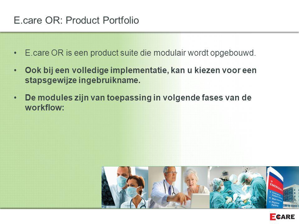 De andere belangrijke bouwsteen in ons concept is de Agenda Blauwdruk E.care OR: Concept & Bouwstenen