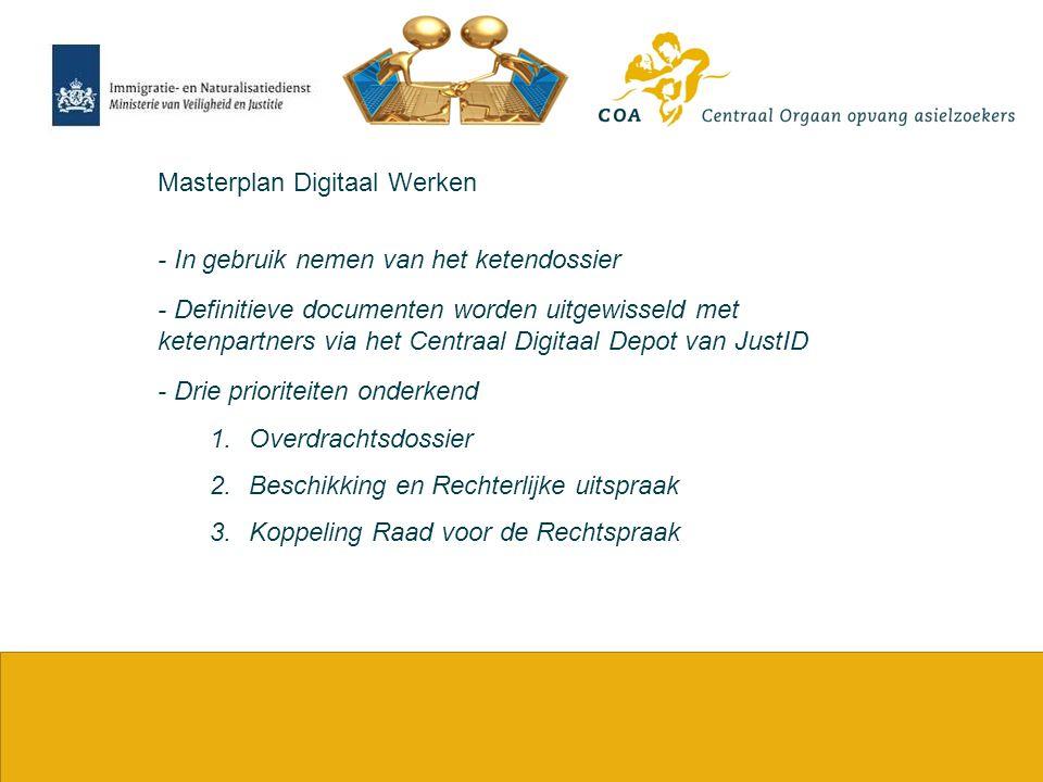 3 Masterplan Digitaal Werken - In gebruik nemen van het ketendossier - Definitieve documenten worden uitgewisseld met ketenpartners via het Centraal D