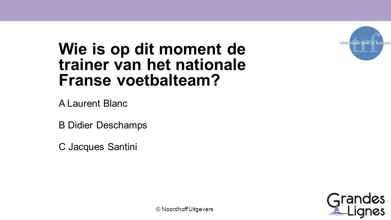 © Noordhoff Uitgevers Wat is de grootste en meest beoefende sport in Frankrijk?