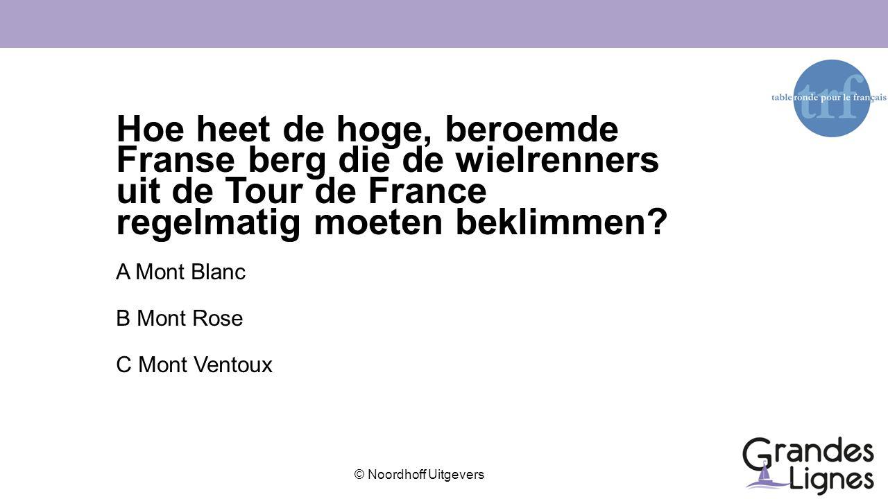 © Noordhoff Uitgevers Hoe wordt in Frankrijk de bolletjestrui genoemd.