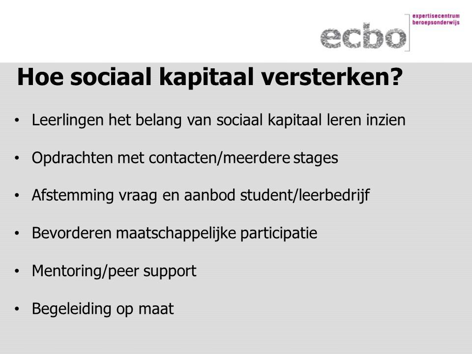 Hoe sociaal kapitaal versterken.