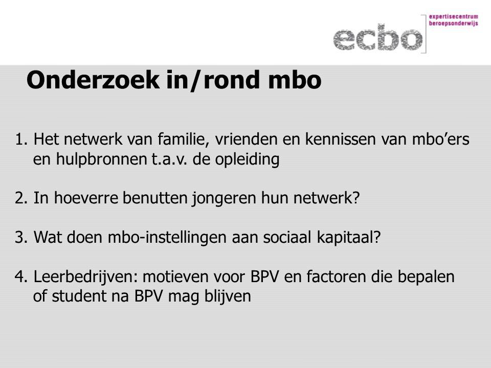 Onderzoek in/rond mbo 1.