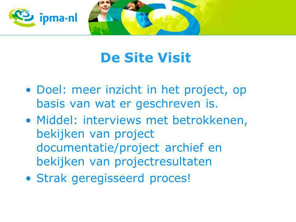 De Site Visit Doel: meer inzicht in het project, op basis van wat er geschreven is.