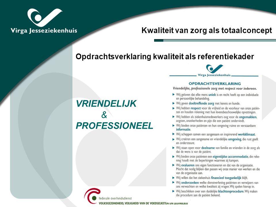 Opdrachtsverklaring kwaliteit als referentiekader VRIENDELIJK & PROFESSIONEEL Kwaliteit van zorg als totaalconcept