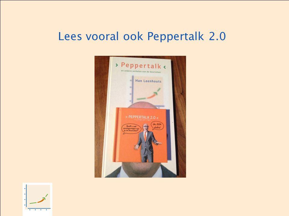 Lees vooral ook Peppertalk 2.0