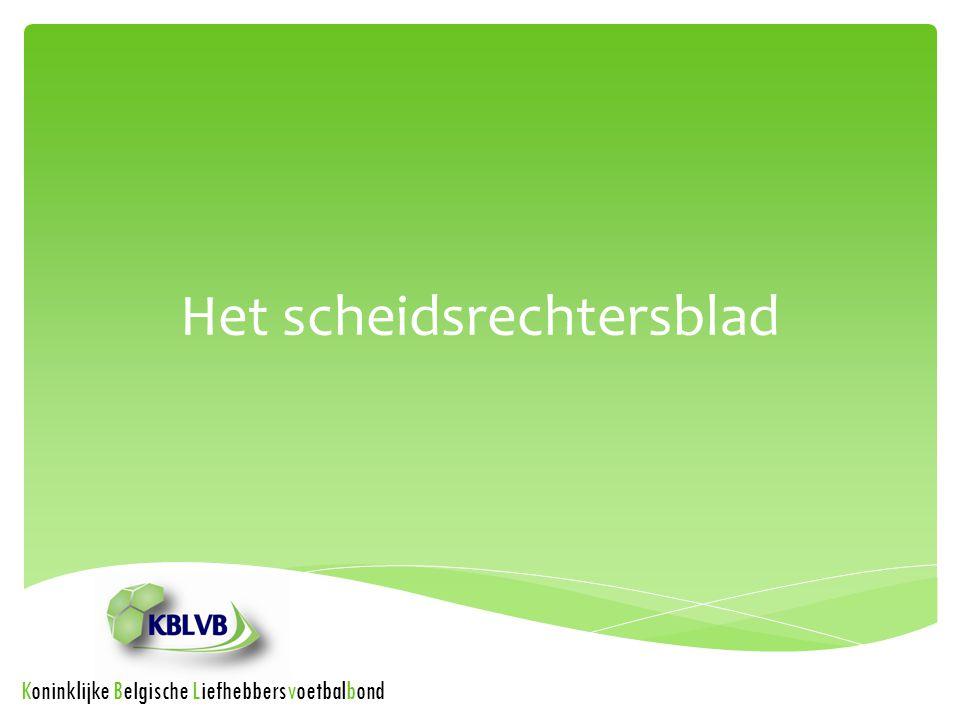 Het scheidsrechtersblad Koninklijke Belgische Liefhebbersvoetbalbond
