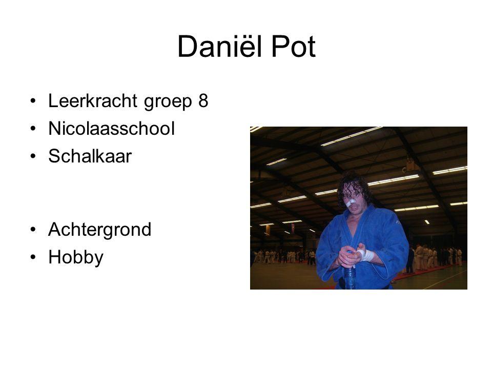 Daniël Pot Leerkracht groep 8 Nicolaasschool Schalkaar Achtergrond Hobby