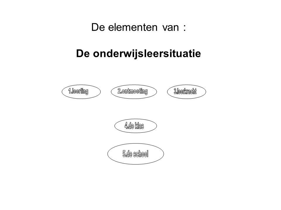 De elementen van : Het onderwijsleerproces