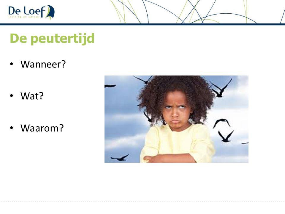 1,5 tot 4 jaar Driftbuien Tegenstribbelen Grenzen opzoeken, verkennen en overschrijden Eigen wil: zelf doen!.