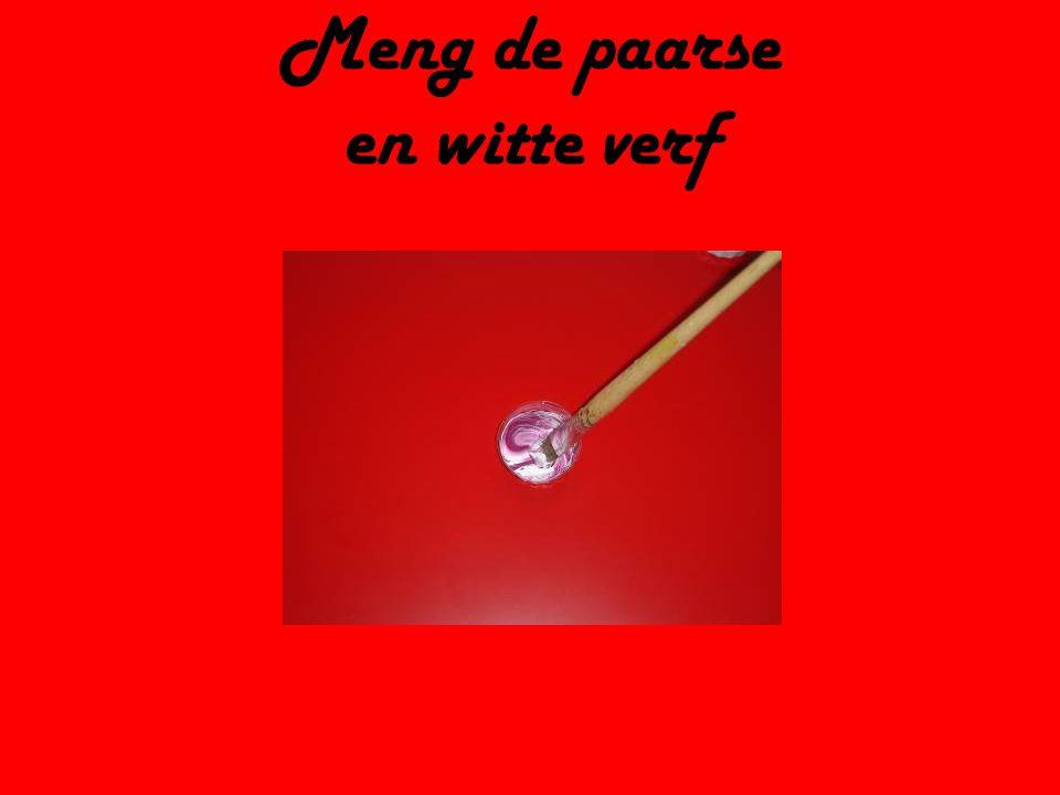 Meng de paarse en witte verf