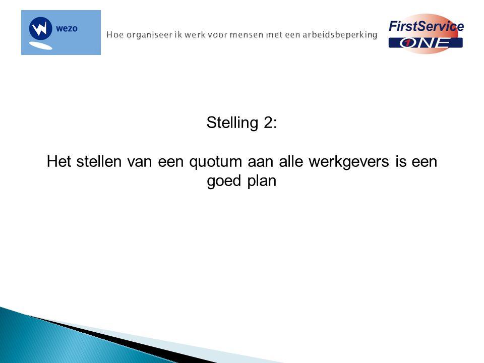 Stelling 2: Het stellen van een quotum aan alle werkgevers is een goed plan