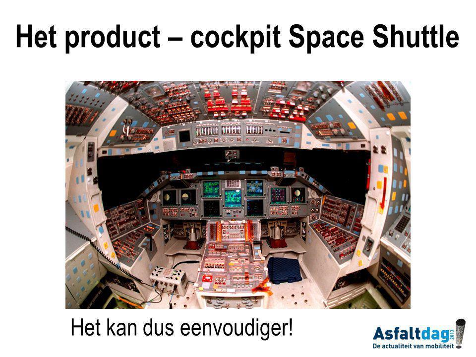 Het kan dus eenvoudiger! Het product – cockpit Space Shuttle