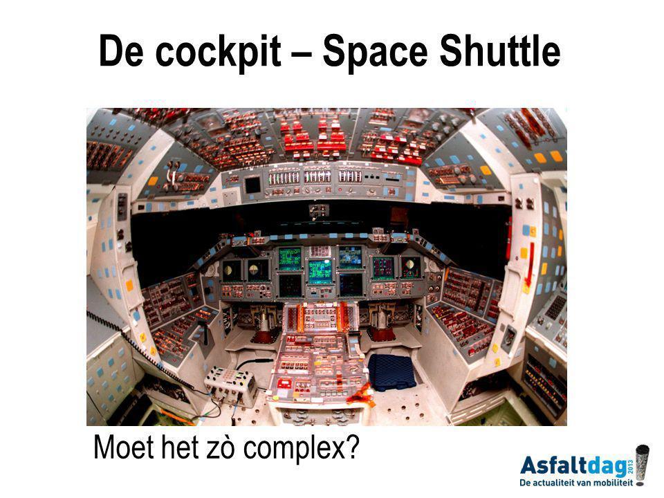 Moet het zò complex De cockpit – Space Shuttle