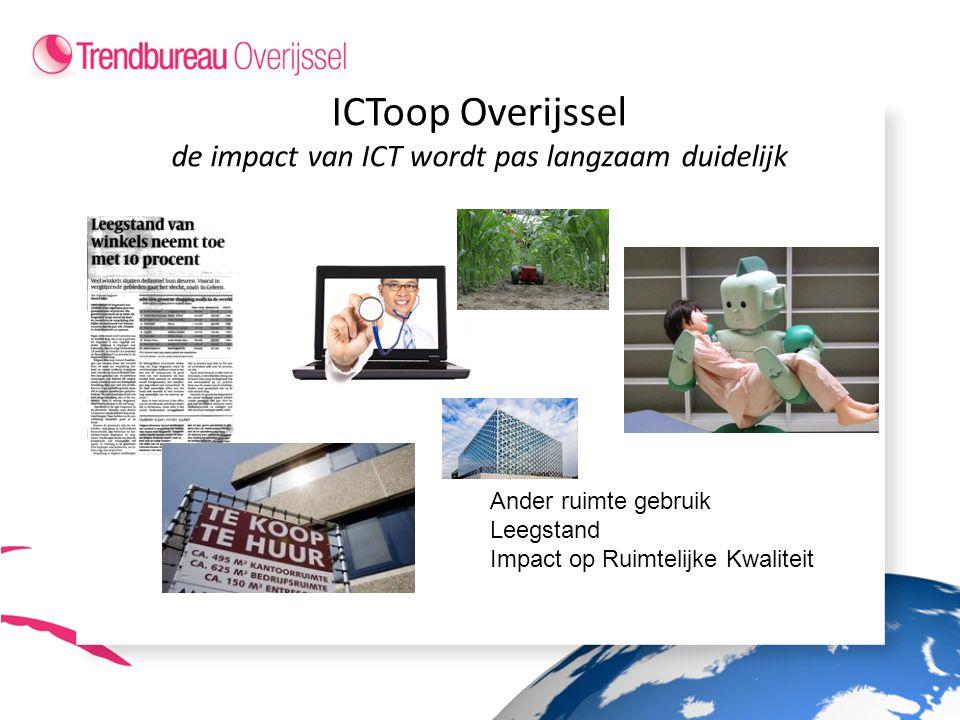ICToop Overijssel de impact van ICT wordt pas langzaam duidelijk Ander ruimte gebruik Leegstand Impact op Ruimtelijke Kwaliteit