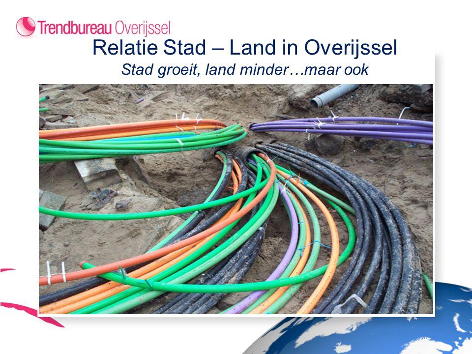 Relatie Stad – Land in Overijssel Stad groeit, land minder…maar ook