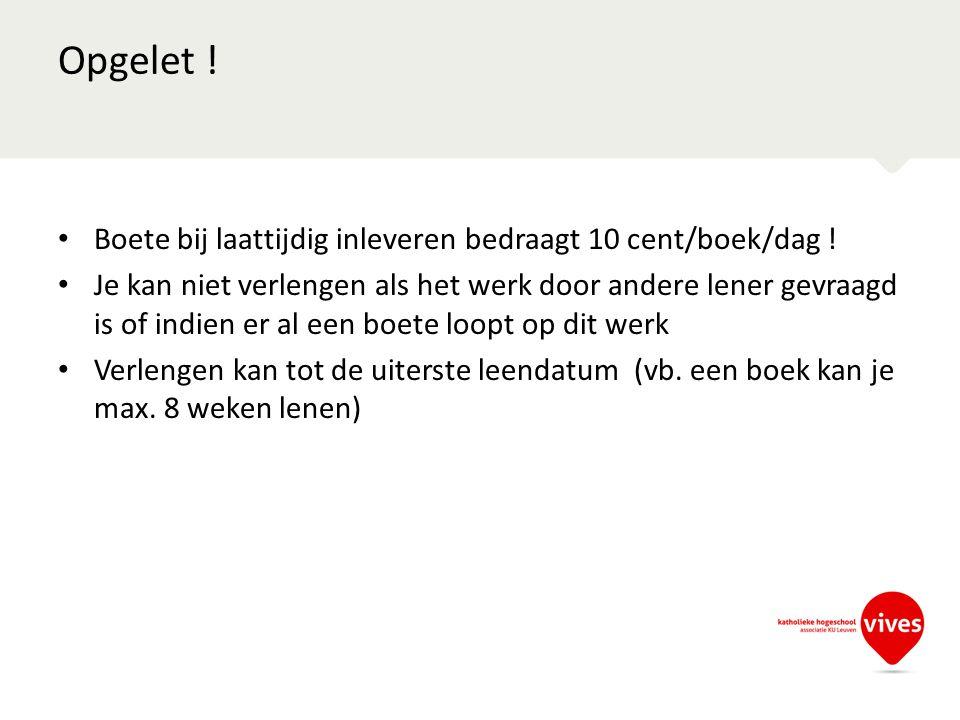 Praktische info bibliotheek (openingstijden …) vind je op http://www.vives.be/bib-kortrijk