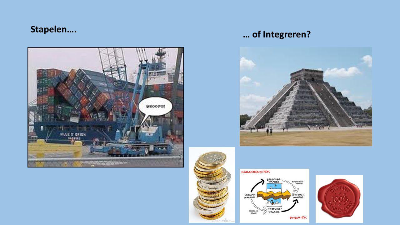 Stapelen…. … of Integreren?