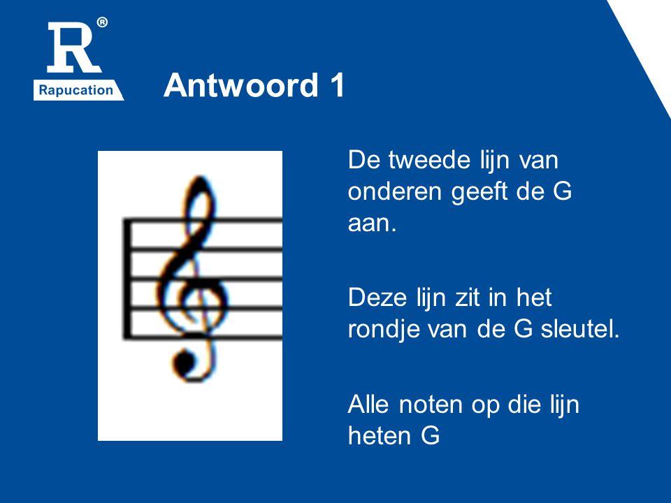 Vraag 7 Hoe beschrijf je de postie van de G op een piano met woorden?