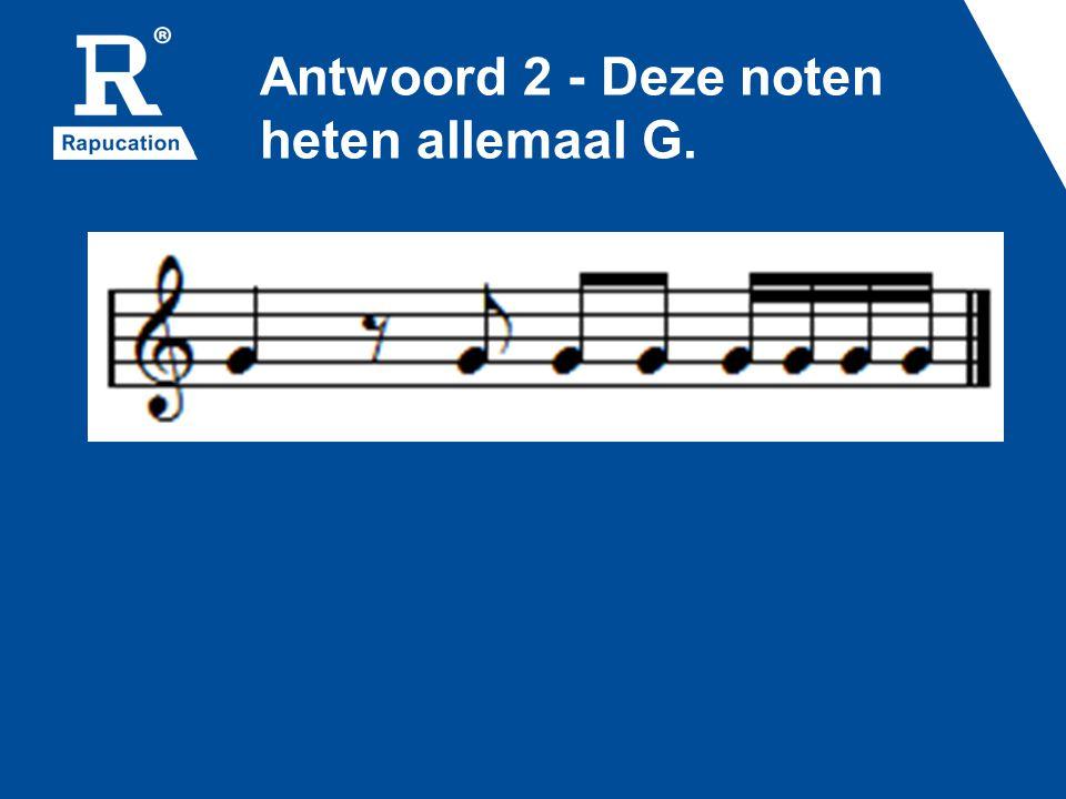 Vraag 8 Vier vragen over het alfabet in muziek: Welke letters gebruiken we in de muziek.