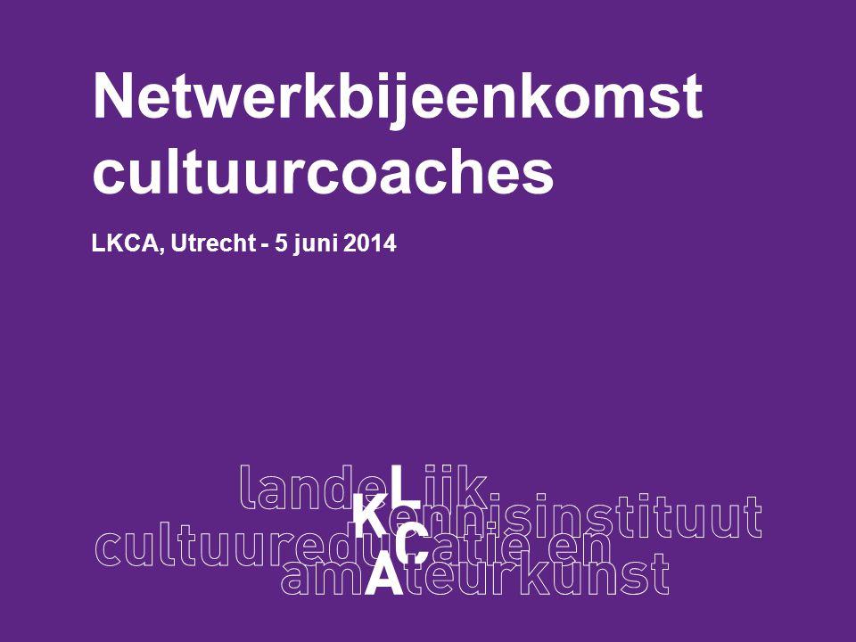 Netwerkbijeenkomst cultuurcoaches LKCA, Utrecht - 5 juni 2014