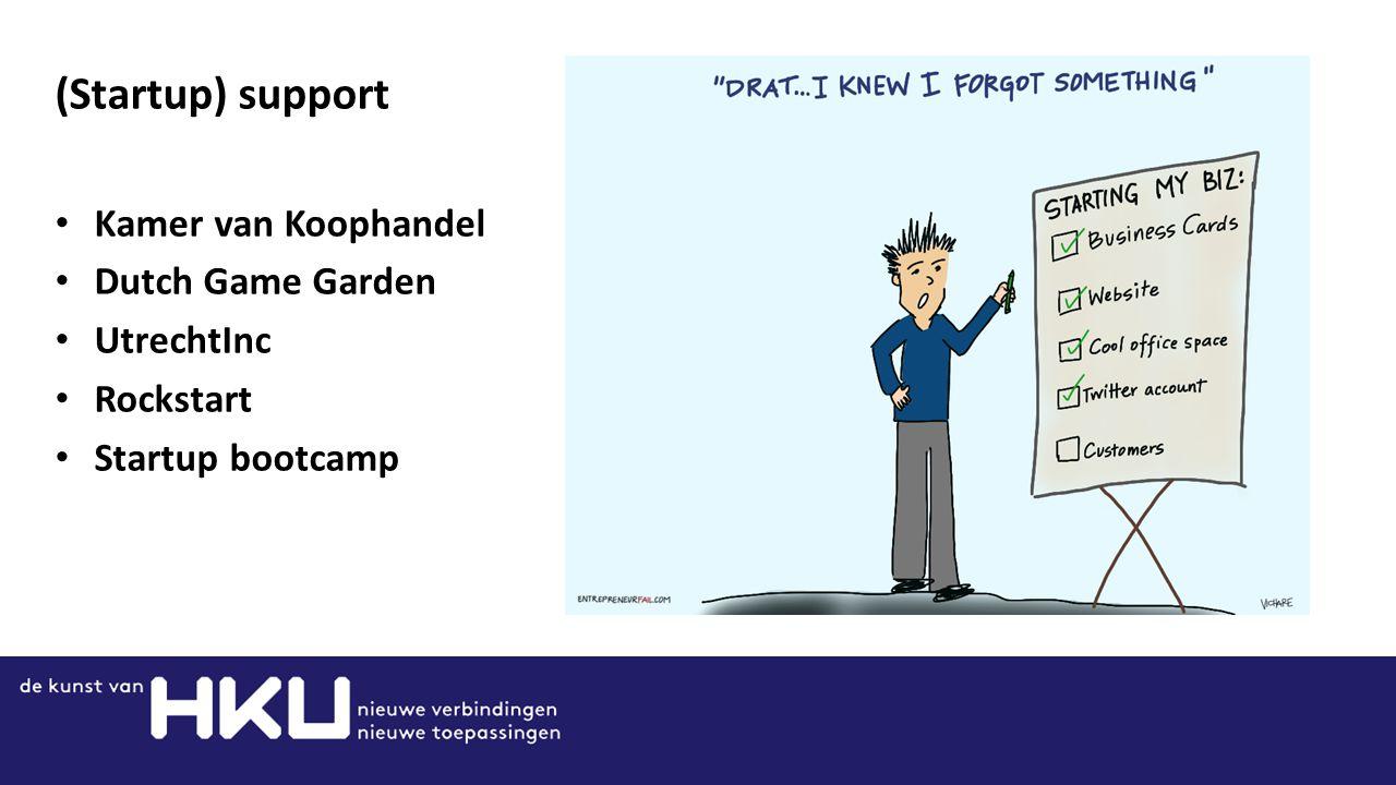 (Startup) support Kamer van Koophandel Dutch Game Garden UtrechtInc Rockstart Startup bootcamp