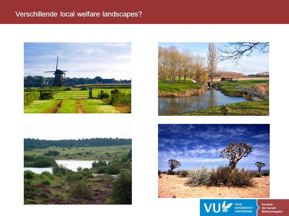 Lessen Verschillende local welfare landscapes?