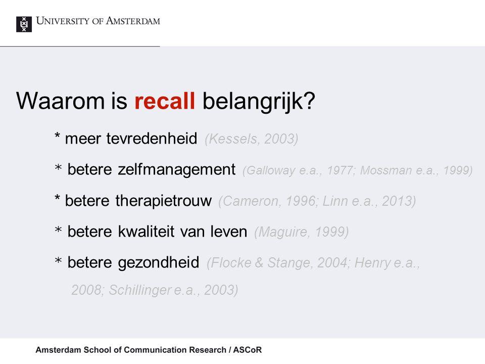 Inhoud gesprek: Gemiddeld div. zkh.: 82.2 items ( Jansen e.a., Gerontologist, 2008)