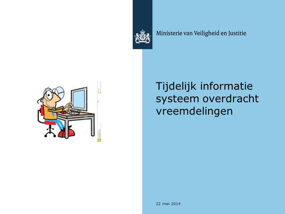 Tijdelijk informatie systeem overdracht vreemdelingen 22 mei 2014