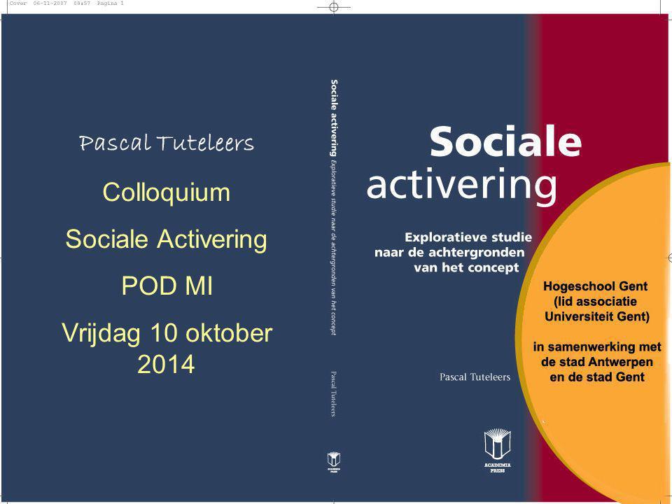 het willen bezinnen over sociale activering en het aandacht willen besteden aan het begeleiden van OCMW-gerechtigden die niet arbeidsgeschikt zijn om gezondheids- en/of billijkheidsredenen en het sensibiliseren voor het belang van activering (en sociale innovatie) in het kader van de armoedebestrijding en sociale uitsluiting Vandaar: klemtoon van mijn lezing zal liggen op (1) sociale activering (en niet op arbeidsmarktgerichte activering), (2) op de manier van begeleiding in het kader van sociale activering