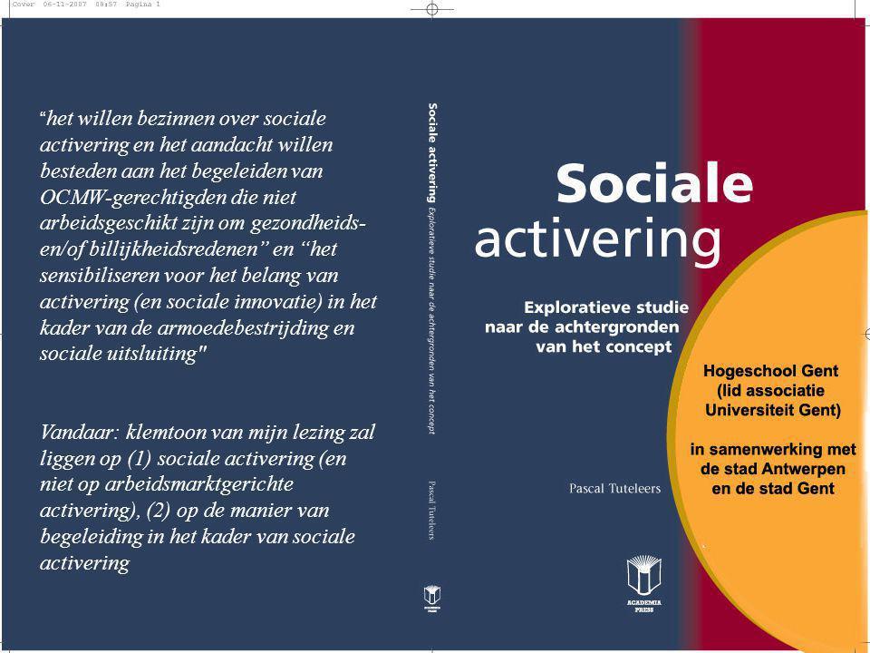 Concreet betekent dit dat ik zal stilstaan bij de sociale activeringspraktijk (inclusief een aantal vuistregels) en dat ik het maatschappelijk debat zal trachten mee te nemen in de discussie over de sociale activeringspraktijk (link met armoedebestrijding en sociale uitsluiting)