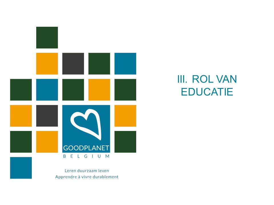 III. ROL VAN EDUCATIE