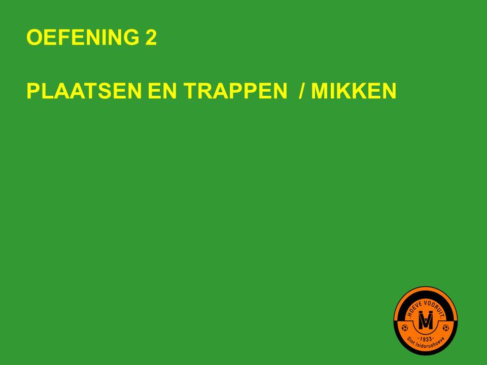 OEFENING 2 PLAATSEN EN TRAPPEN / MIKKEN