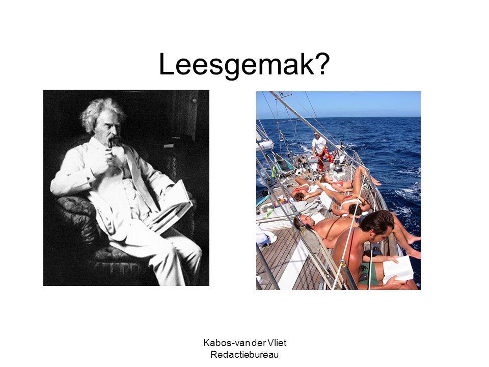Kabos-van der Vliet Redactiebureau Leesgemak?