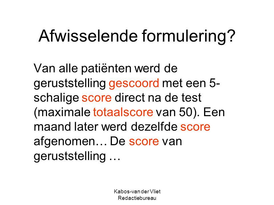Kabos-van der Vliet Redactiebureau Kort & bondig.