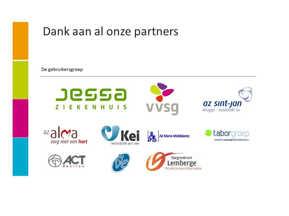 Dank aan al onze partners
