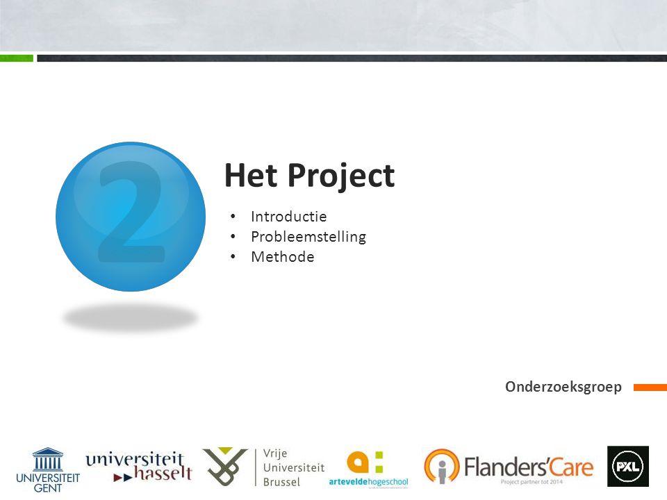 2 Het Project Onderzoeksgroep Introductie Probleemstelling Methode